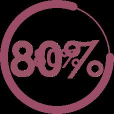 80% circle